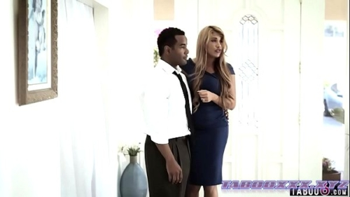 black daddy gets a piece of his sons new girlfriend